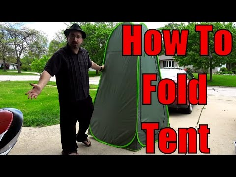 Folding the Privacy Pop Up Tent    How to fold a Popup Changing Tent