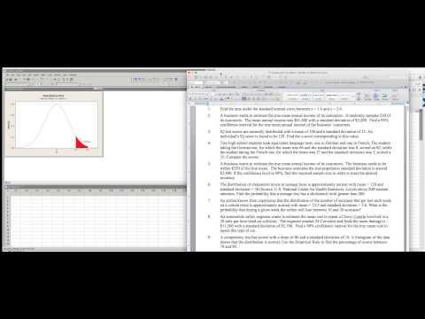 Standard Normal Curve Interval Minitab vs StatCrunch