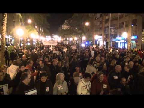 Manifestación No al Copago  farmacéutico Cermi-CV de  Alicante 2-02-13