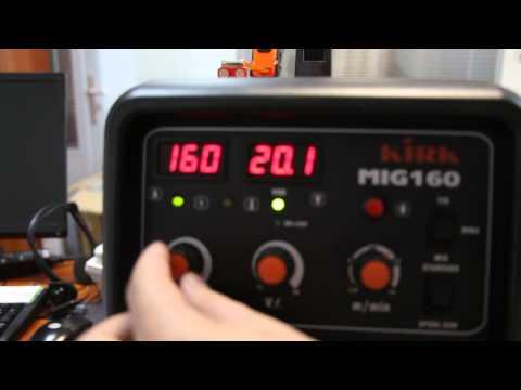 KIRK MIG MAG 160 TIG MMA welder switch on