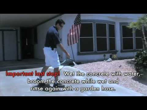 How To Clean Orange Battery Stains, Rust and Fertilizer Stains From Concrete- F9 BARC