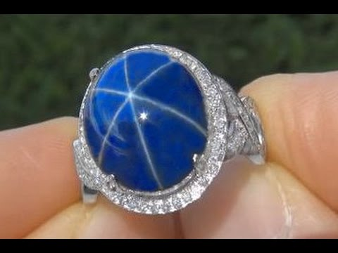 Exquisite 6 Ray Star Sapphire & Diamond Ring - $2 MILLION Dollar Lifetime Jewelry Collection Auction