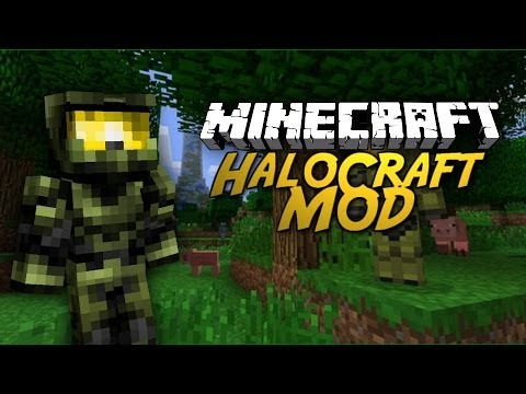 HALO IN MINECRAFT! HaloCraft Mod Showcase!