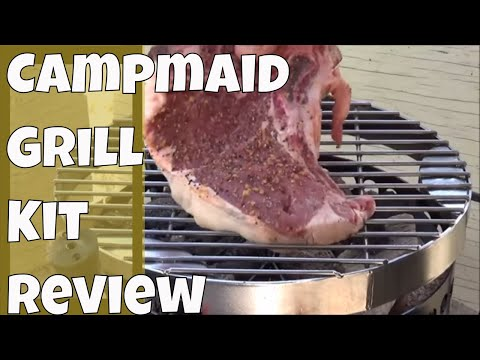 Un-Boxing Assembly and Using the Campmaid Grill Kit