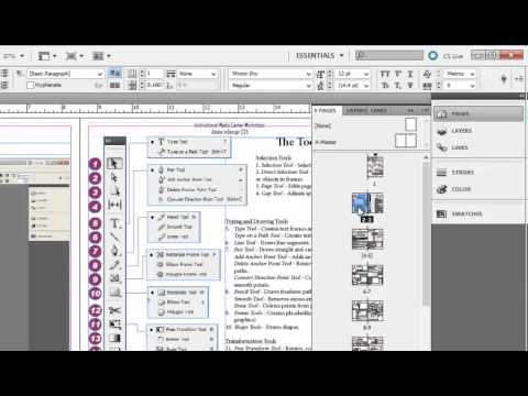 Adding Page Numbers in Adobe InDesign CS5.5