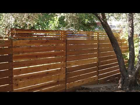 Horizontal Fence project using Halco postmasters