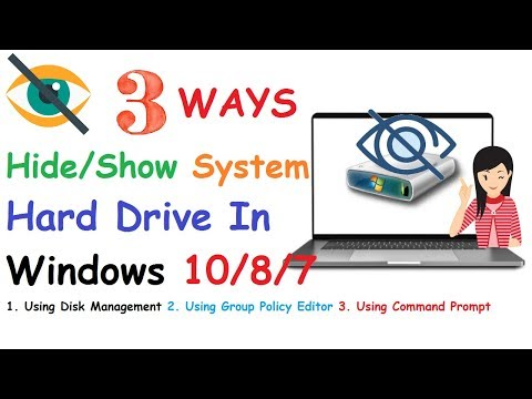 3 Ways To Show | Hide System Hard Drive In Windows 10|8|7 OS