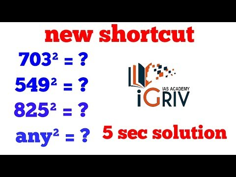3 digit square shortcut in 5 sec | different approach by iGriv IAS Academy