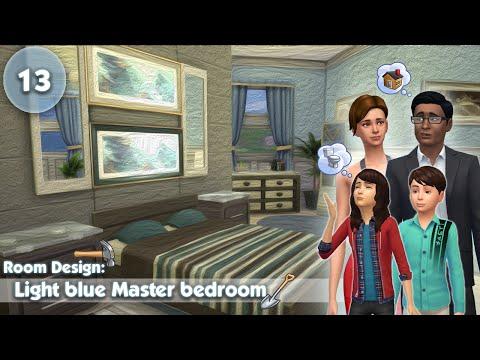 The Sims 4: Room Design - Light Blue Master Bedroom