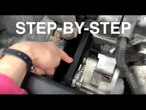 Replace Toyota Corolla Camry Celica Serpentine Belt repair