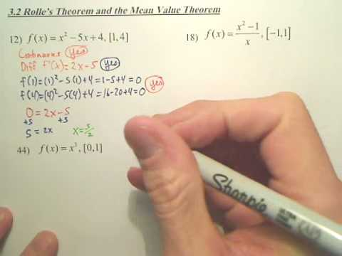 3.2a Rolle's Theorem and the Mean Value Theorem - Calculus