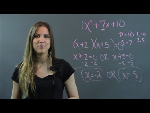 How to Solve Each Equation by Factoring & Applying the Zero Product Property : Algebra