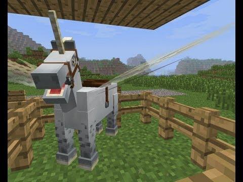 MineCraft 1.6 Snapshot 13w18a Horses Pet Unicorns Breeding !