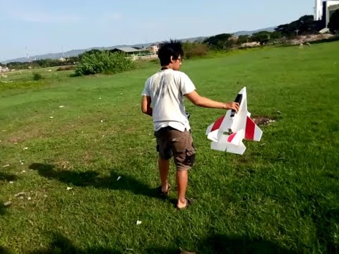 Foam Jet RC Plane Test Fly