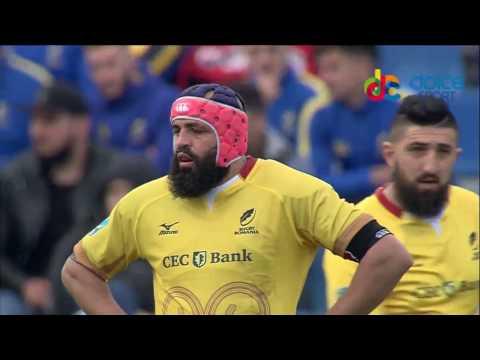 #RugbyRomania Cele mai spectaculoase placaje ale lui Viorel Lucaci in meciul cu Georgia