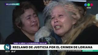Familiares y vecinos pidieron justicia por Loriana