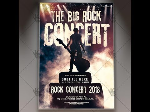The Big Rock Concert - Club Flyer PSD Template