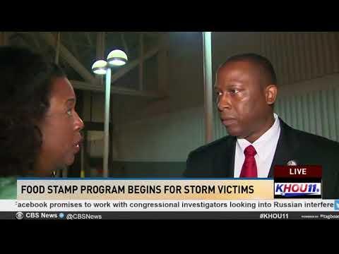 Food stamp program begins for storm victims