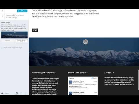 Corporate WordPress Theme: Setting a Custom Footer Image (Step 7)