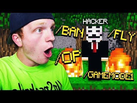HACKING ON MY MINECRAFT SERVER!