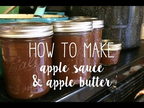 How to Make Applesauce and Apple Butter