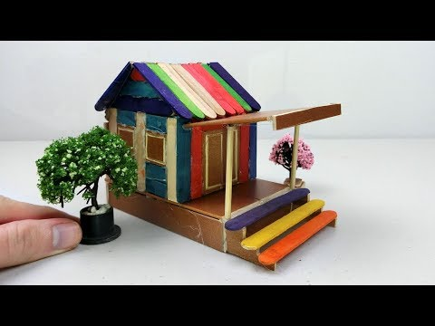 How to make Popsicle Stick House #20 | Easy DIY Project