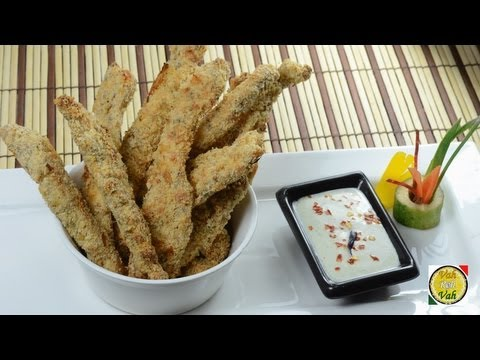 Crispy Baked Chicken Strips - By VahChef @ VahRehVah.com