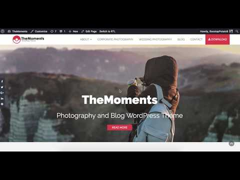 5. How to change Header/Banner Image and Text in TheMoments WordPress Theme