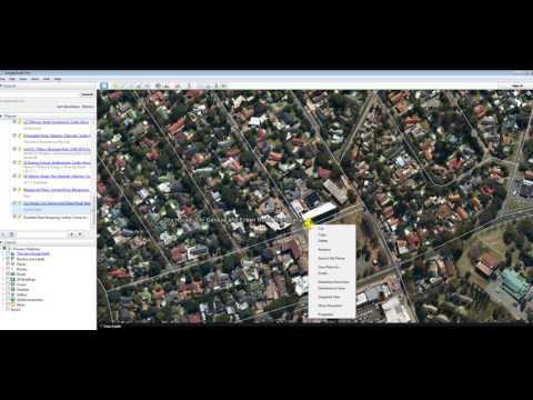 How do you move a place mark in Google Earth?