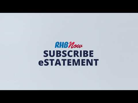 RHB Now Tutorial (8/9): RHB Now e-Statement Subscription