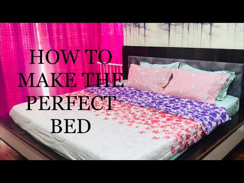 HOW TO PUT A BEDSHEET ON A BED  हिन्दी मैं  / HOW TO MAKE YOUR BED