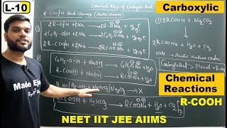 (L-10) Chemical Rxn. of Carboxylic Acid || C-O Bond Cleavage (Acidity of R-COOH) || JEE NEET