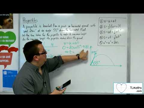 A-Level Maths 2017 Q5-02 Projectiles: From the Ground Example 1 SUVAT Method