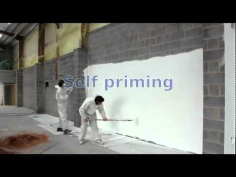 Painting block walls in one pass with a single coat of paint