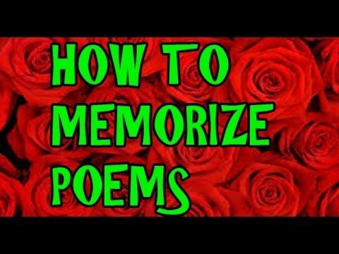 How to Memorize a Poem, Quote or Scripture