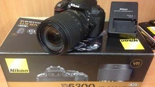 NIKON D5300 DSLR Camera Un-Boxing And Review [Hindi]