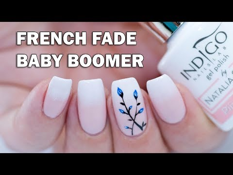 EASY French Fade (Baby Boomer) Nails with Gel Polish + Floral