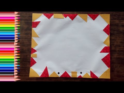 Border designs on paper | Border designs for project | how to draw simple border design