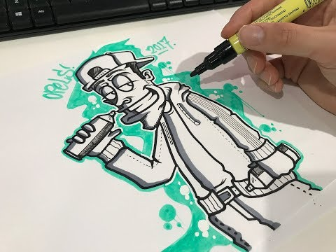 How to draw a Graffiti Character