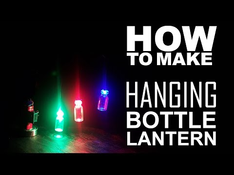 How To Make Multicolored Hanging Bottle Lantern-- Easy Way