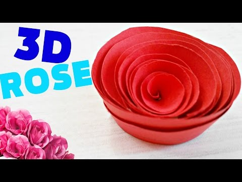 How to make a flower,ROSE OUT OF PAPER  origami easy steps for kids,  for beginners