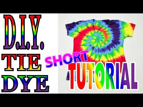 DIY Rainbow Spiral Tie Dye Shirt [Short Tutorial] #39
