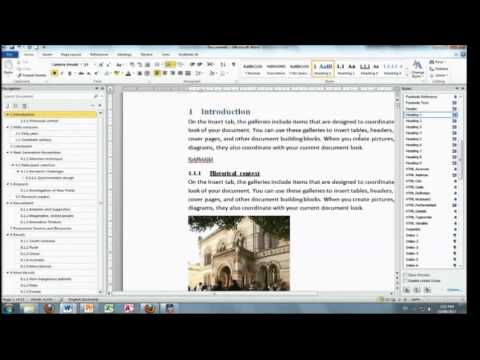 Managing a Thesis using Word 2010 - Part 4 - Numbering Headings