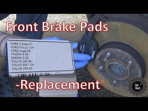 Front brake pad replacement, quick and easy tutorial – V50, C30, S40, KUGA, FOCUS, C-MAX, MAZDA 3&5