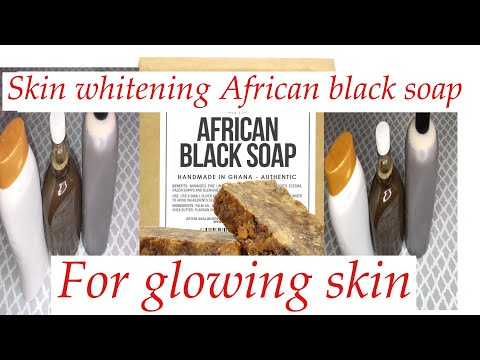 Skin whitening African black soap body wash for extra glowing skin