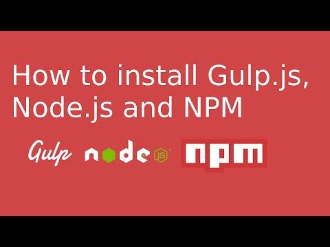 How to install Gulp.js, Node.js and NPM on Ubuntu 14.04