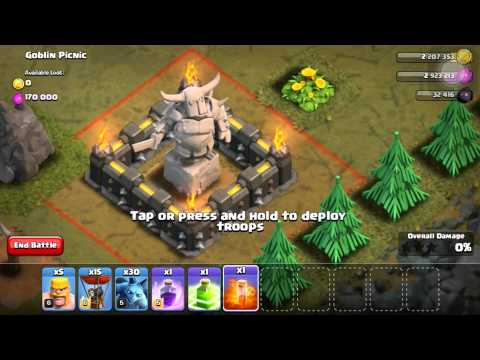 WOW SANTA SPELL IN CLASH IF CLANS JULY 2015!!