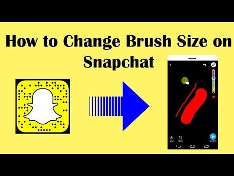 How to Change Brush Size on Snapchat-Change Snapchat  Brush size