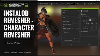 Character Creator 3 Tutorial - Export With Instalod - Remesh Character