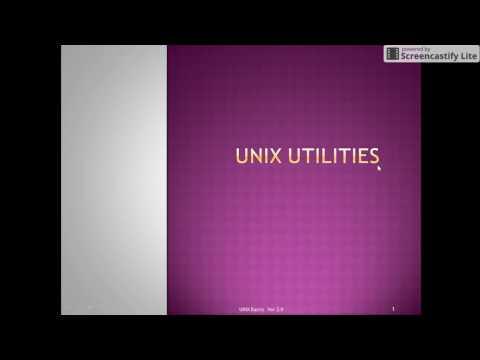 Unix Tutorial: Unix General purpose Utilities, Filters
